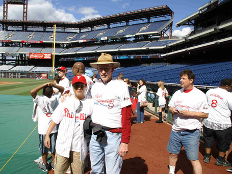 Tom Whitefield & Diego at Phillies game