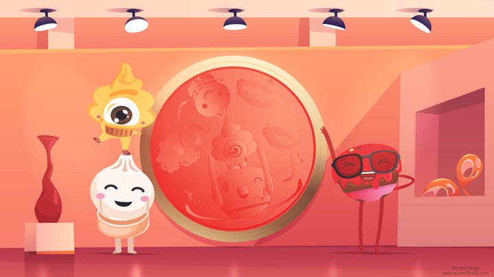 Chinese Traditional Red Paint  Niexeefamily Illustration by Kelly Huang