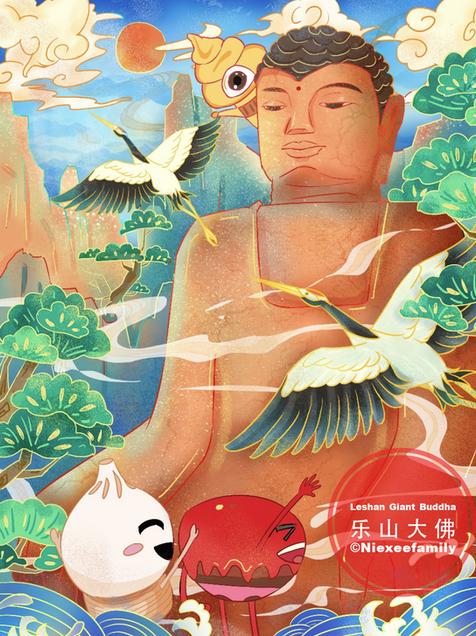 Leshan Giant Buddha by Niexeefamily