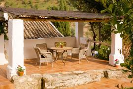 El Molino del Conde: Private terrace in the gardens