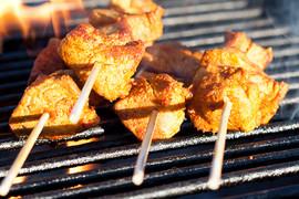 El Molino del Conde: Barbecue by the swimming pool