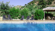 Private swimming pool in large secluded gardens