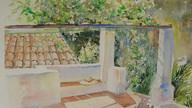 One of the terraces at El Molino del Conde