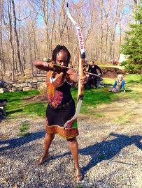 Magnetic Explorators black woman archeress