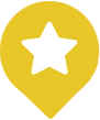 trail marker with star