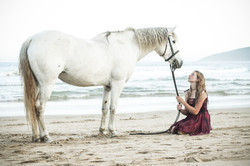 The girl and her horse