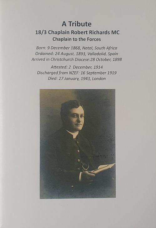 A Tribute: 18/3 Chap. R.R. Richards M.C.