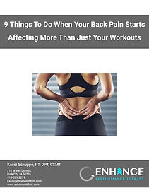 9 things to do when your back pain start
