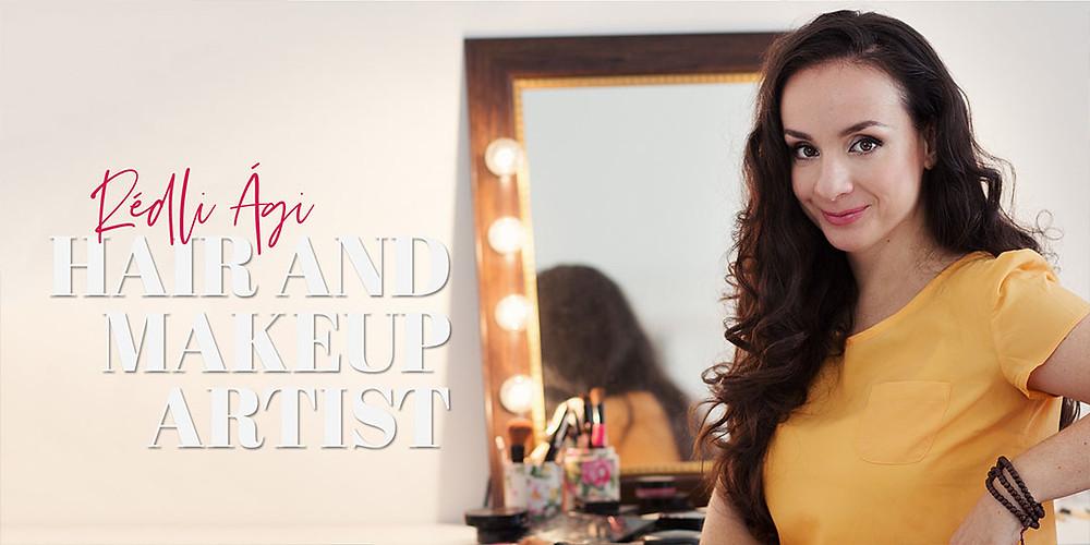 Rédli Ági sminkes, makeup artist, fodrász, hair stylist, fotózások, sminkelés