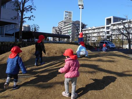 1月のひまわり組の様子(散歩)