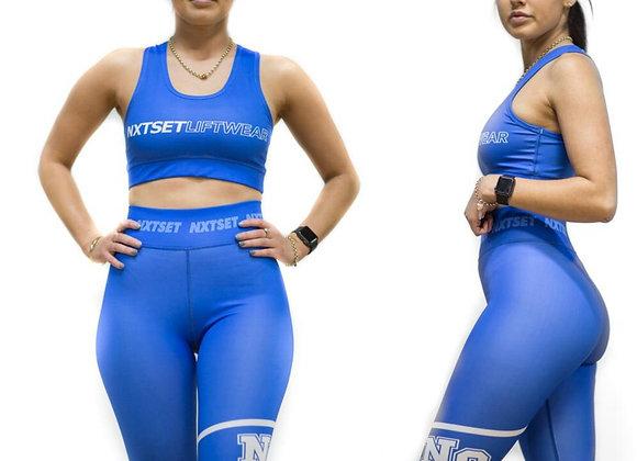 NXTSET 3 Quater Tights -Blue