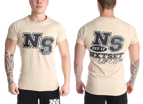 NXTSET Tee -NS Cream / Black