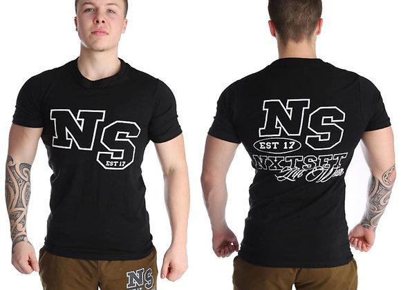 NXTSET Tee -NS Black Outline