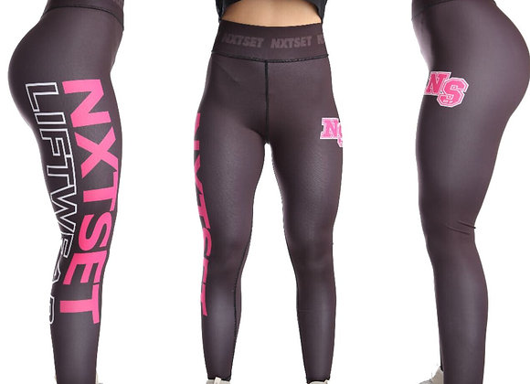 NXTSET Full Length Tights -Black / Pink