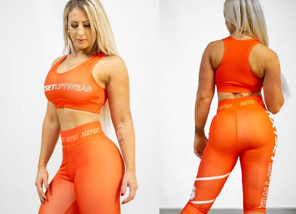 NXTSET 3 Quarter Length Tights - Deep Orange