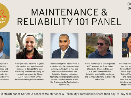 MAINTENANCE & RELIABILITY 101
