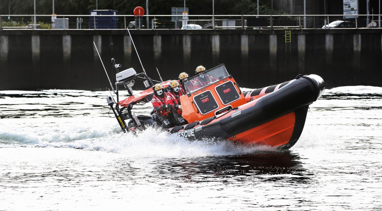 Belfast Lifeboat - a 8m Ribcraft capable of 42 knots and crews 4