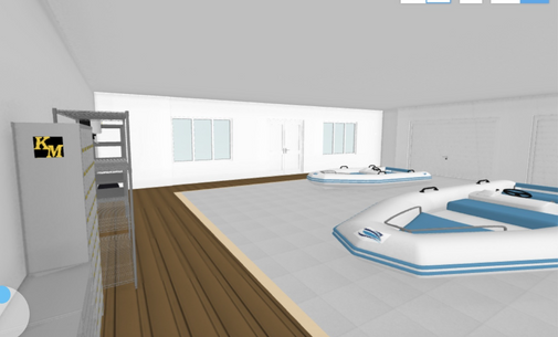 Potential Boathouse interior with boat storage