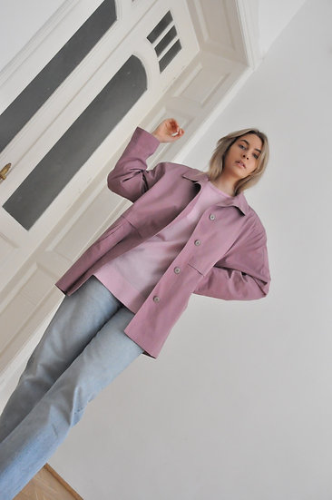 Blush trench coat / oversized or L