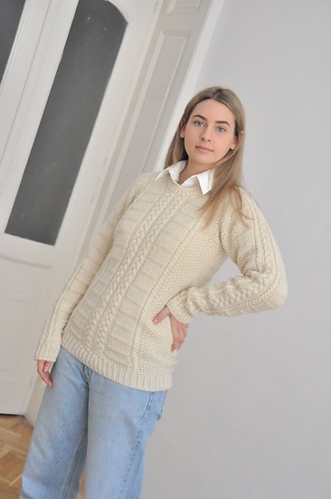 Wool pullover off white / S or smaller M