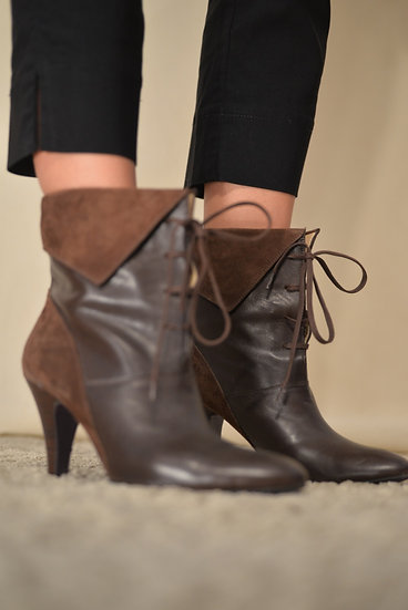 Leather - suede boots // size EU38