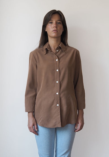 100% pure silk shirt with shell buttons - size 40
