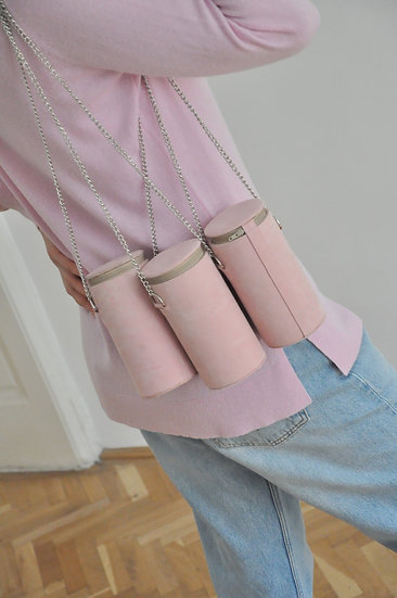 Box bag in pink by Eszter Kain