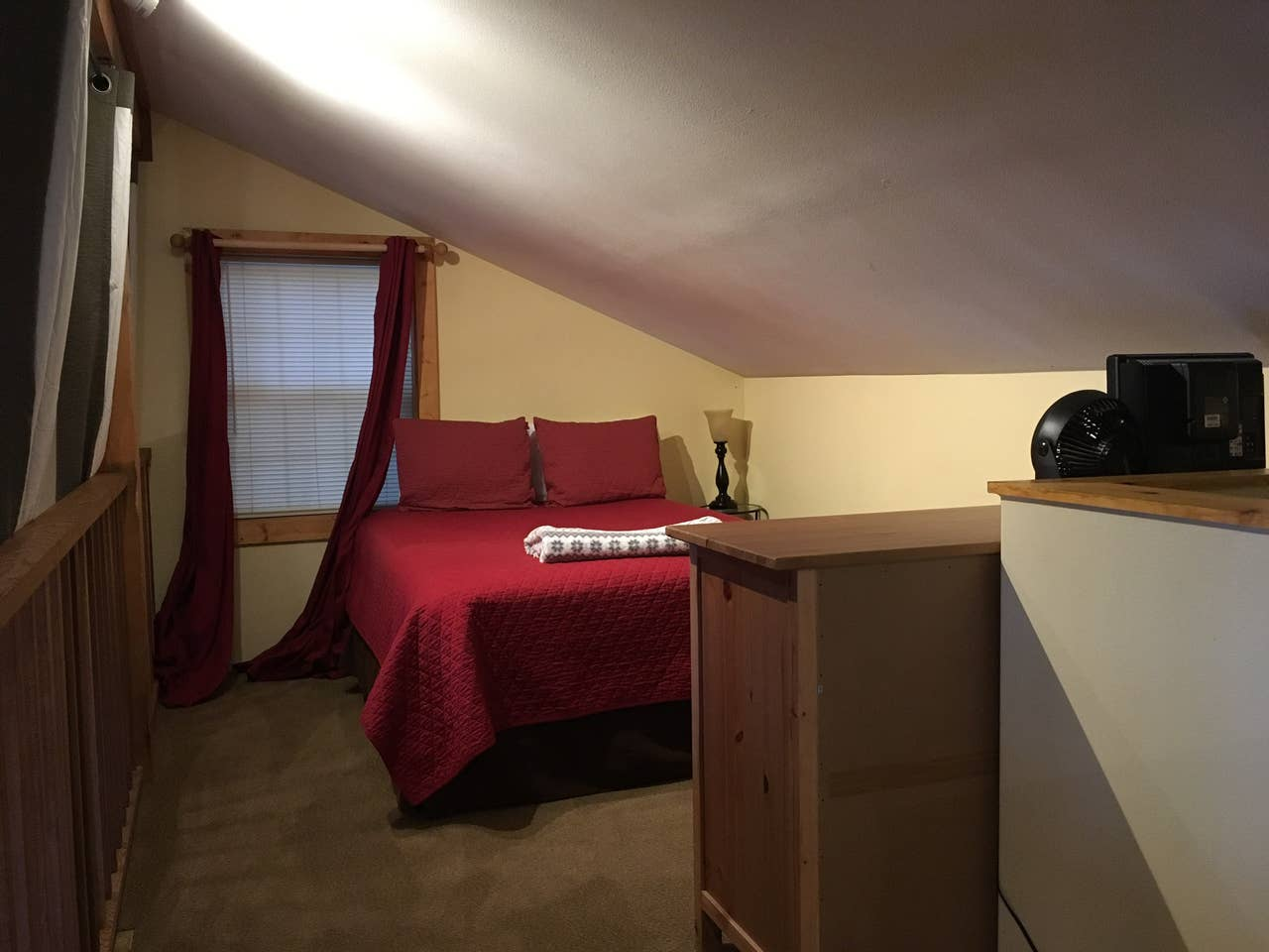 Queen bed #2 upstairs loft