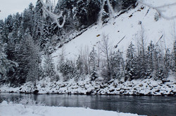 Winter River view