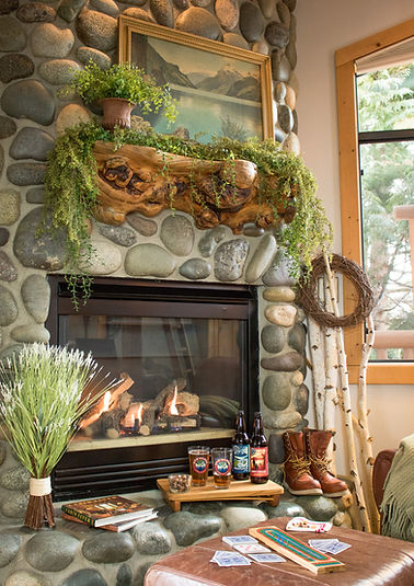 Relax in front of the fireplace