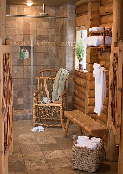 Luxurious Bathroom with Rain Shower