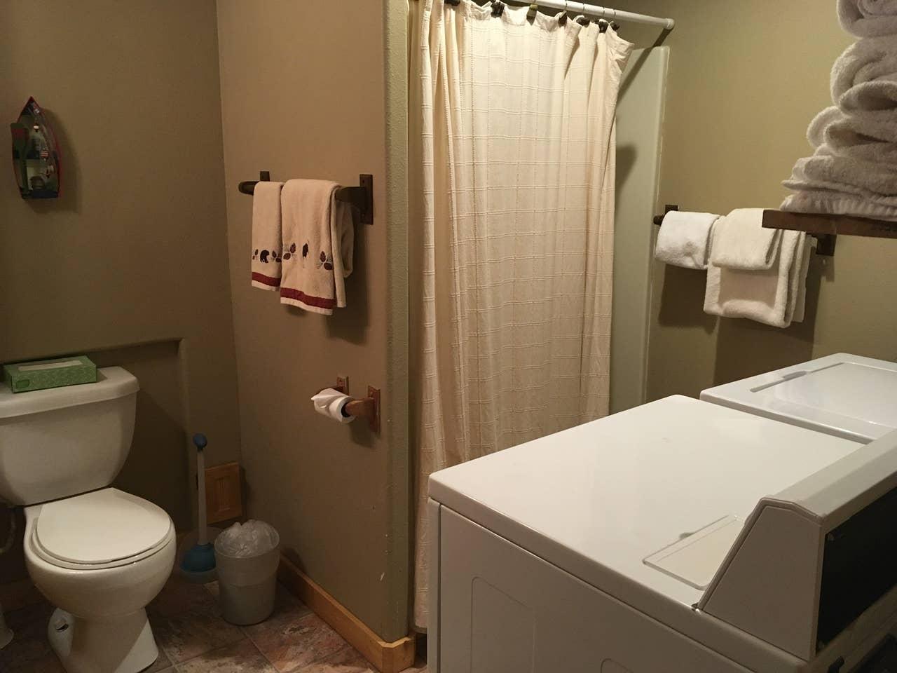 Lower level bathroom, laundry