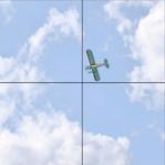 Flugzeug 41104, 4er Set 2x2