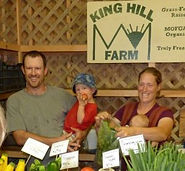 Family running King Hill Farm stand