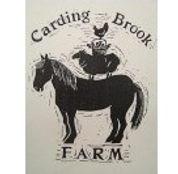 Carding Brook Farm sign