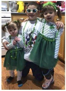 children dressing up for St. Patrick's Day