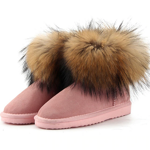 """Genuine Suede & Fur Boots. The Alpi Collection, in """"Amore"""""""
