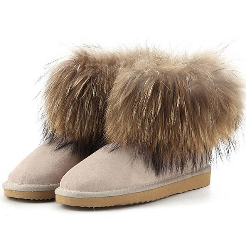 "Genuine Suede & Fur Boots. The Alpi Collection, in ""Latte"""