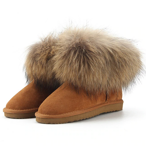 "Genuine Suede & Fur Boots. The Alpi Collection, in ""Caramello"""