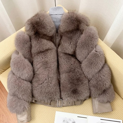 "Luxury Fur Coat. The Divina Collection, in ""Latte"""