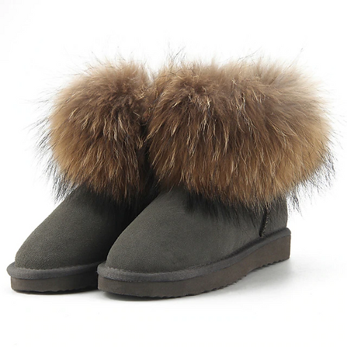 "Genuine Suede & Fur Boots. The Alpi Collection, in ""Classico"""