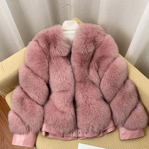 "Luxury Fur Coat. The Divina Collection, in ""Rosa"""