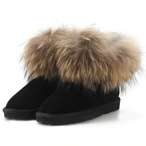 "Genuine Suede & Fur Boots. The Alpi Collection, in ""Notte"""
