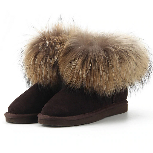 "Genuine Suede & Fur Boots. The Alpi Collection, in ""Cioccolato"""