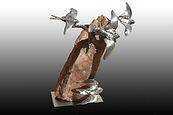 welded bird sculpture