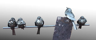 Welded steel birds