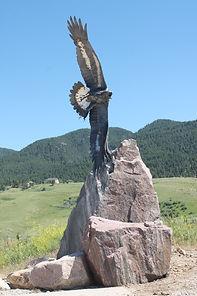 welded steel eagle
