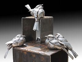 'modern group'steel sculpture by Parker McDonald