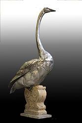 stainless steel swan