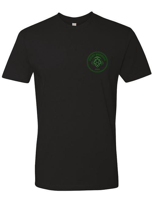 HiDef 2.0 Hop Headphones Logo Black T-shirt